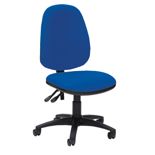 Pyramid High Back Operator Chair Asynchro Blue Ref PYR26BLUE Each