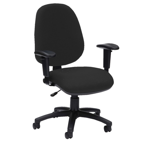 Pyramid High Back Operator Chair Asynchro With Height Adjustable Arms Black Ref PYR26PYRHABLK Each