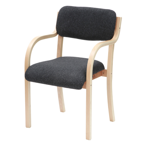 Turner Chair With Arms Beechwood Black Ref TU2/CHA Each