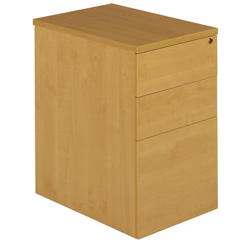 Deluxe 3 Drawer Desk High Pedestal 800mm Deep Ref DHP3-8BCH Each