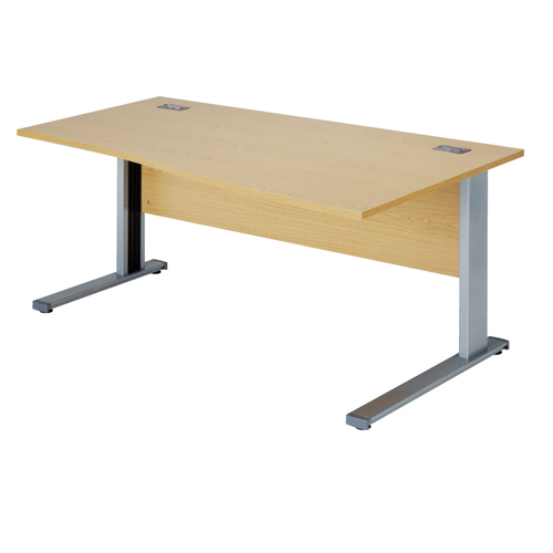 Workmode Plus 1400 Right Hand Wave Workstation Cantilever Beech/Silver Ref ZWMP1410RWCB/S Each
