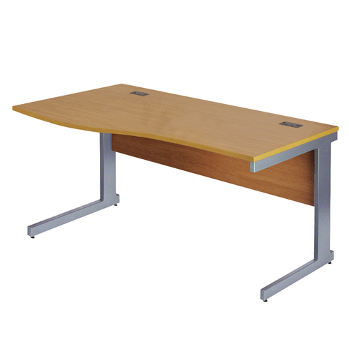 Workmode Plus 1600 Left Hand Wave Workstation Cantilever Beech/Silver Ref ZWMP1610LWCB/S Each