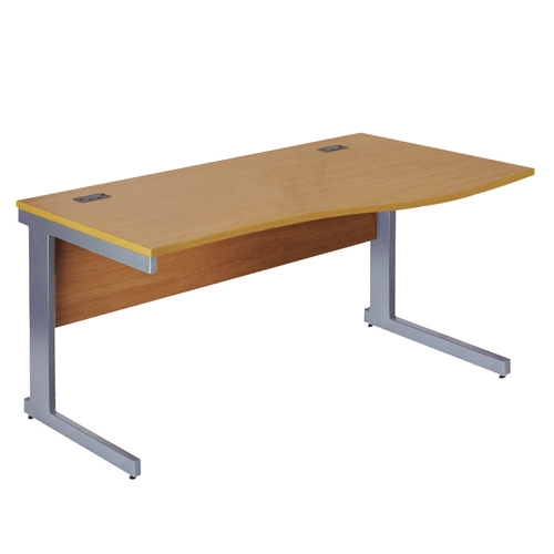 Workmode Plus 1600 Right Hand Wave Workstation Cantilever Beech/Silver Ref ZWMP1610RWCB/S Each