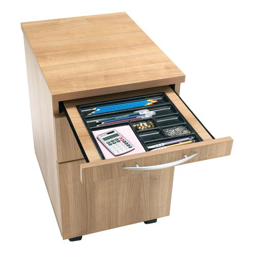2 Drawer Executive Mobile Pedestal Inc Pen Tray Ref ES622CAP Each