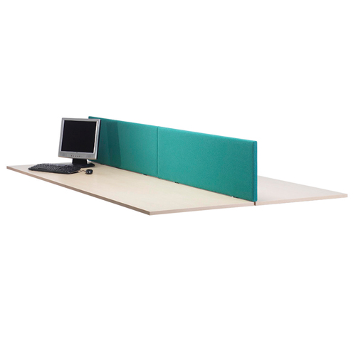 Lyle Straight Desktop Screen 1800mm Fabric Camira Cara Carron Jade C/W 2 L-ST-1838JD Each