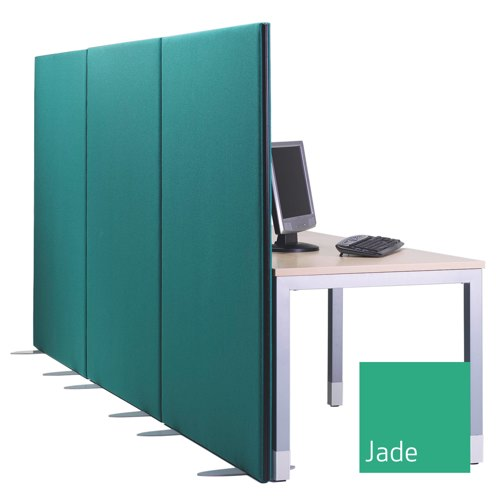 Lyle One Straight Top Free Standing Screen 1600x1600mm 1/16.16 Blue Fabric Camira Cara Carron