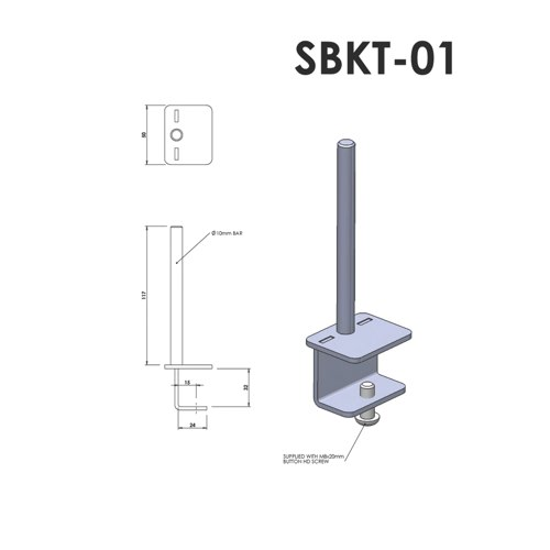 Lyle Arc Fixing Bracket For Desktop Screens Ref SBKT-01 Each