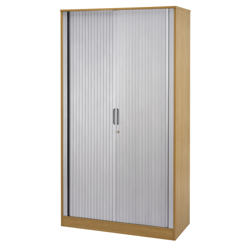 Wooden Side Opening Tambour Unit 1050 x 500 x 2000mm Beech Ref SU2010SOTBCH