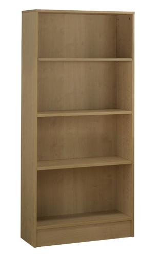 Workmode Plus Wooden Bookcase 3 Shelves 800 x 310 x 1600mm Oak Ref ZIMBC1600OAK