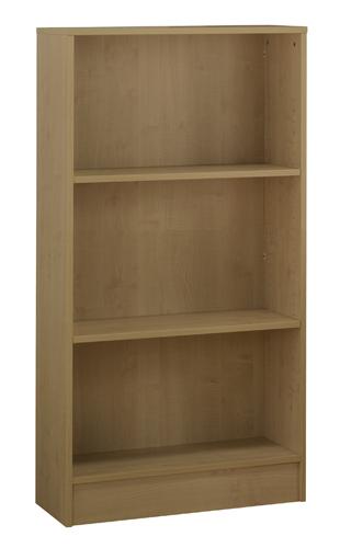Workmode Plus Wooden Bookcase 2 Shelves 800 x 310 x 1400mm Oak Ref ZIMBC1400OAK