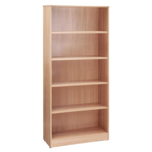 Workmode Plus Wooden Bookcase 4 Shelves 800 x 310 x 1800mm Beech Ref ZIMBC1800BCH