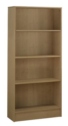 Workmode Plus Wooden Bookcase 4 Shelves 800 x 310 x 1800mm Oak Ref ZIMBC1800OAK