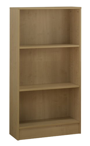 Workmode Plus Wooden Bookcase 1 Shelves 800 x 310 x 800mm Oak Ref ZIMBC800OAK