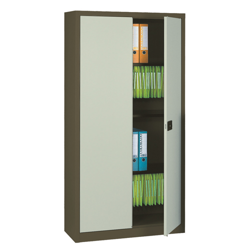 Over 1200mm High Bisley Steel Double Door Contract Cupboard inc. 3 Shelves
