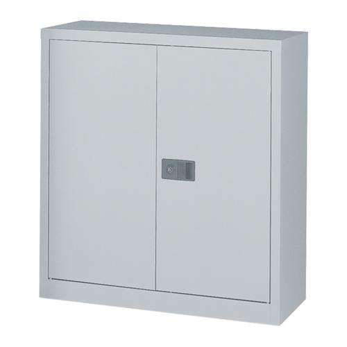 Steel Stationery Cupboard 914x400x1000mm Goose Grey Ref E402A01G/G
