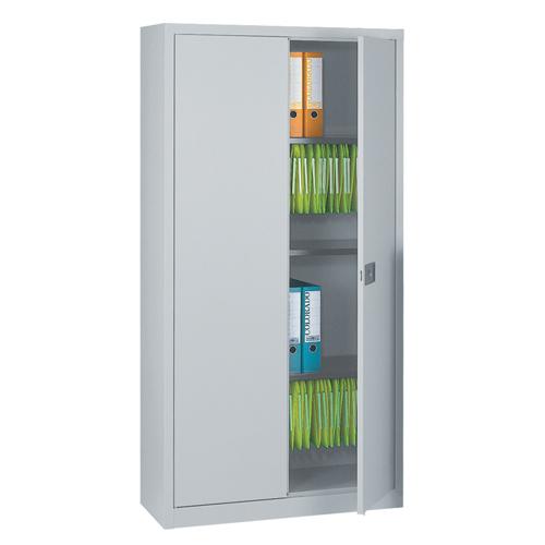 Bisley Contract 2 Door Cupboard 914x400x1950mm Grey Includes 4 Shelves Ref E782A04G/G