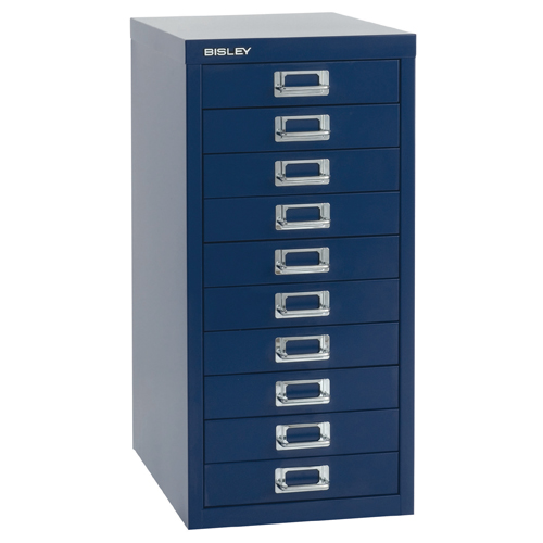 Steel Bisley 39 Series Multidrawer Cabinet 10 Drawer Goose Grey H29/10NLG/G Each