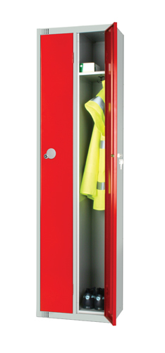 Twin Locker 1 Dr 1800x450x450mm Red Ref 1845TWRED Each