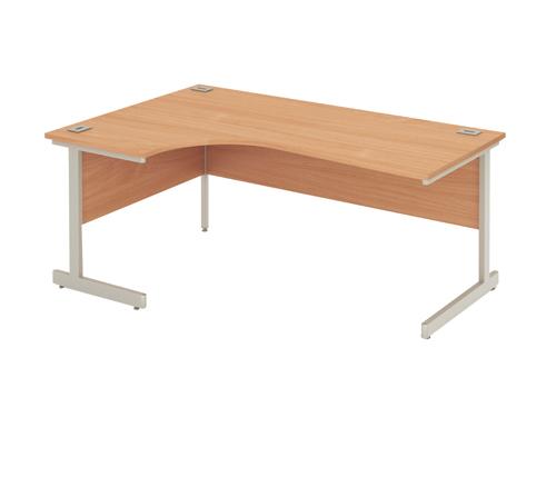 Fraction Radial Right Hand Desk 1800mm Oak Ref ZFN18R/OAK Each