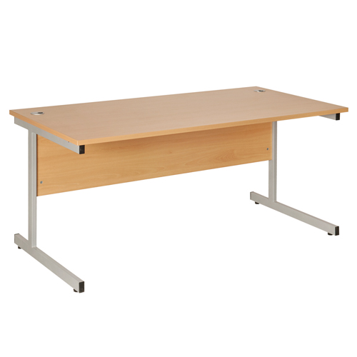 Fraction Rectangular Desk 1600mm Oak Ref ZFN1608/OAK Each