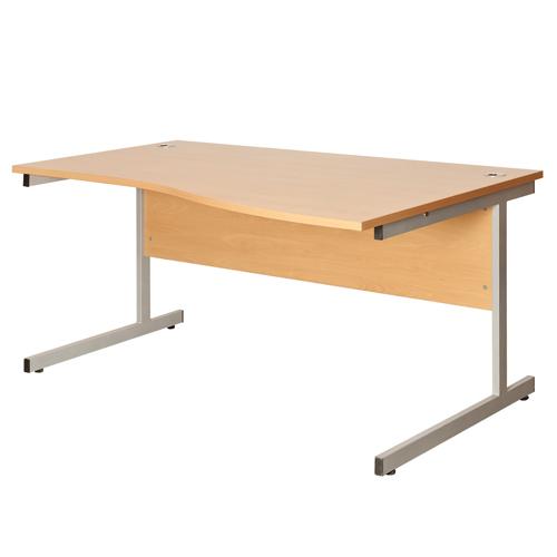 Fraction Wave Desk Right Hand 1400mm Beech Ref ZFN1410RW/BCH Each