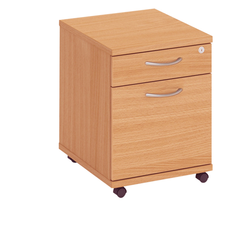 Fraction Low Mobile 2 Drawer Pedestal Oak Ref FMP2/OAK Each