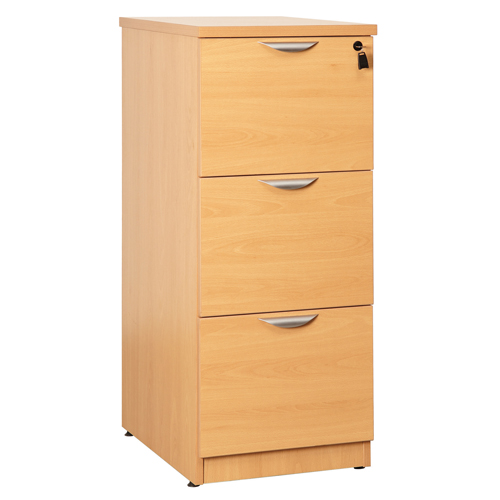 Fraction Wooden Filing Cabinet 3 Drawer Beech Ref SA102 Each