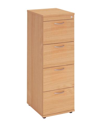Fraction Wooden Filing Cabinet 4 Drawer Oak Ref SA104 Each
