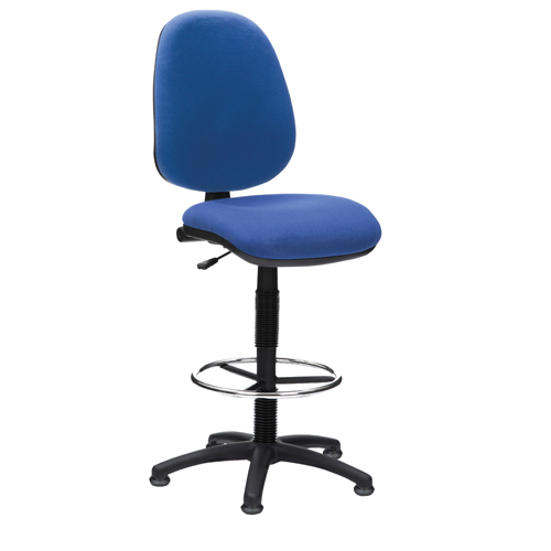 Prism High Back Draughtsmen Chair PCB Blue Ref ZPSM1AC1042BLUE Each