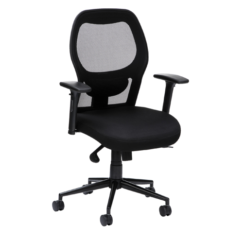 Desk Chairs Lite 10 Executive Mesh Back Chair - Black ET1HB/M/BLK