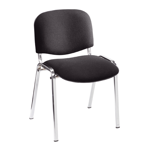 Stakka Chair Chrome Frame Black Fabric Ref U50052W Each