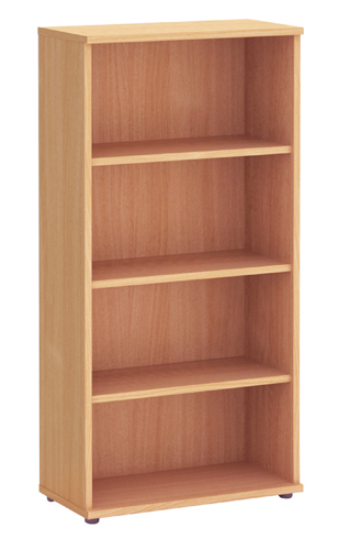 Fraction 1600 High Bookcase With 3 Shelves Beech Ref ZFBC1600/BCH Each