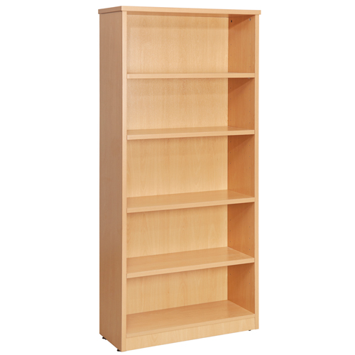 Fraction High Bookcase With 4 Shelves 1800mm Beech Ref ZFBC1800/BCH Each