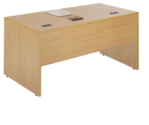 Workmode Plus Panel End Rectangular Workstation 1400 Oak Ref ZWM1480POAK