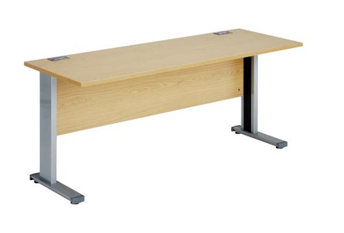 Workmode Plus Narrow Workstation 1600mm Oak Ref ZWM1660COAK
