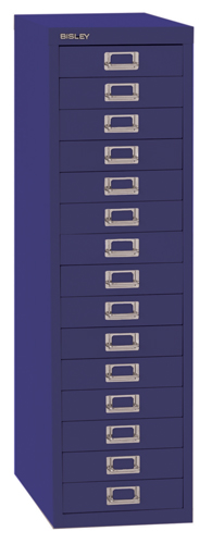 Bisley 39 Series Multidrawer Cabinet 15 Drawer Doulton Blue H39/15NLD/BLUE Each