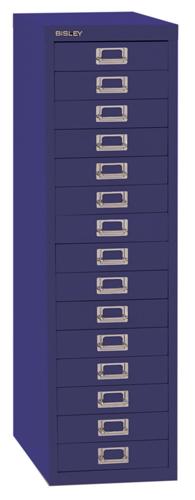 Bisley 39 Series Multidrawer Cabinet 15 Drawer Doulton Blue H39 15NLD