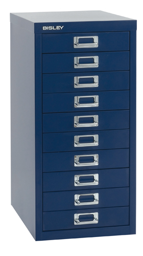 Bisley 29 Series Multidrawer Cabinet 10 Drawer Chalk H29/10NL/WHT Each