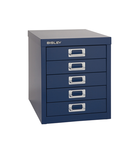 Bisley 12 Series Multidrawer Cabinet 5 Drawer Doulton Blue H12/5NLD/BLUE Each