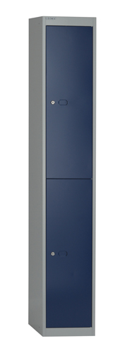 Bisley Locker 1 Door 1802x305x305mm Grey/Blue Ref CLK121G/B Each