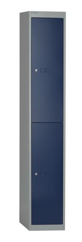 Bisley Locker 1 Door 1802x305x457mm Grey/Blue Ref CLK181G/B Each
