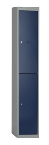 Bisley Locker 2 Door 1802x305x305mm Grey/Blue Ref CLK122G/B Each