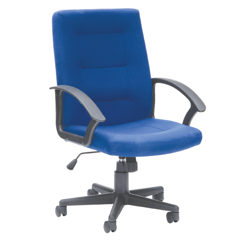 Amber High Back Executive Armchair Blue Fabric AM2HB/F/BLUE Each