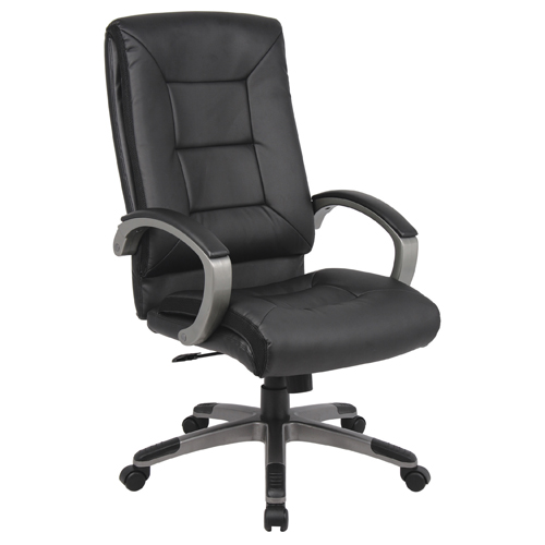 Tanzanite Executive Chair Leather Black Ref TZ1/HB/L/BLK