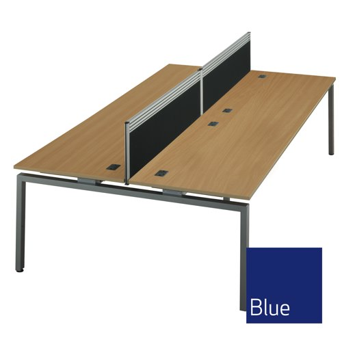 Troon Desk Mounted Screen With Toolbar 1400mm Blue Ref T-T2-1438BLU