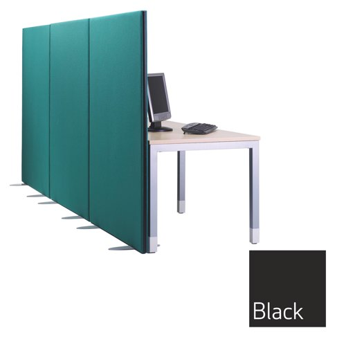 Lyle One Free Standing Screen 1600mm(wide)x1600mm(high) 1/16.16 Each Camira Cara Black EJ138