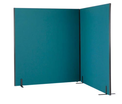 Lyle One Free Standing Screen 1600mm(wide)x1200mm(high) 1/12.16 Each Camira Cara Black EJ138