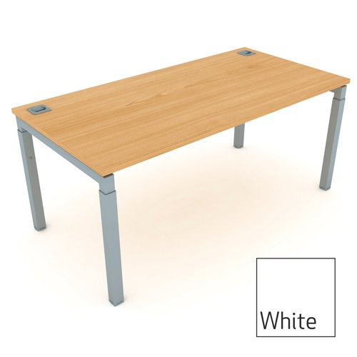 Advance Height Settaable Rectangular Desk 1600mm White Ref AR16/8WH/S