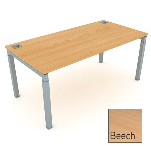 Advance Height Settable Rectangular Desk 1600mm Beech Ref AR16/8B/S