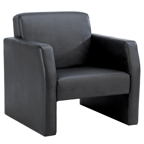 Face Single Seat Armchair Bonded Leather Black Ref FA1/BL/BLK Each